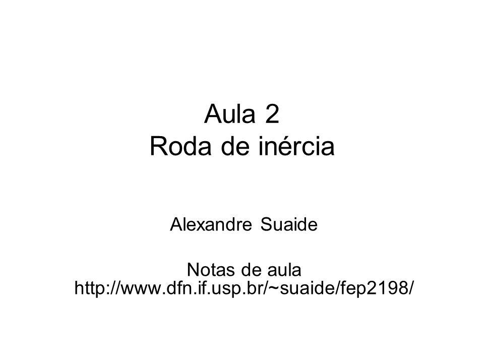 Aula 2 Roda de inércia Alexandre Suaide Notas de aula http://www.dfn.if.usp.br/~suaide/fep2198/