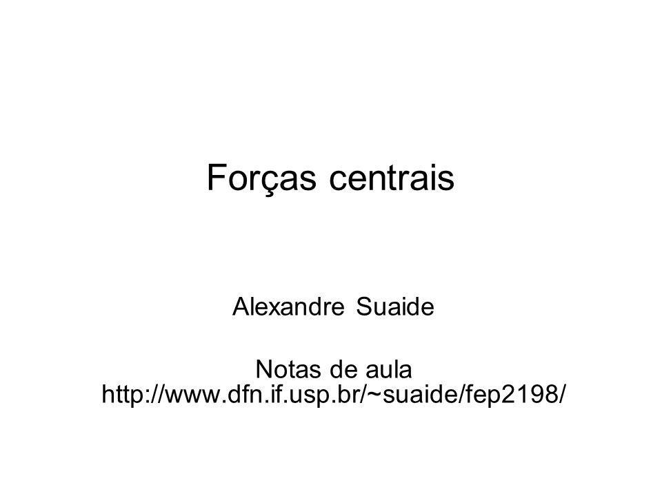 Forças centrais Alexandre Suaide Notas de aula http://www.dfn.if.usp.br/~suaide/fep2198/