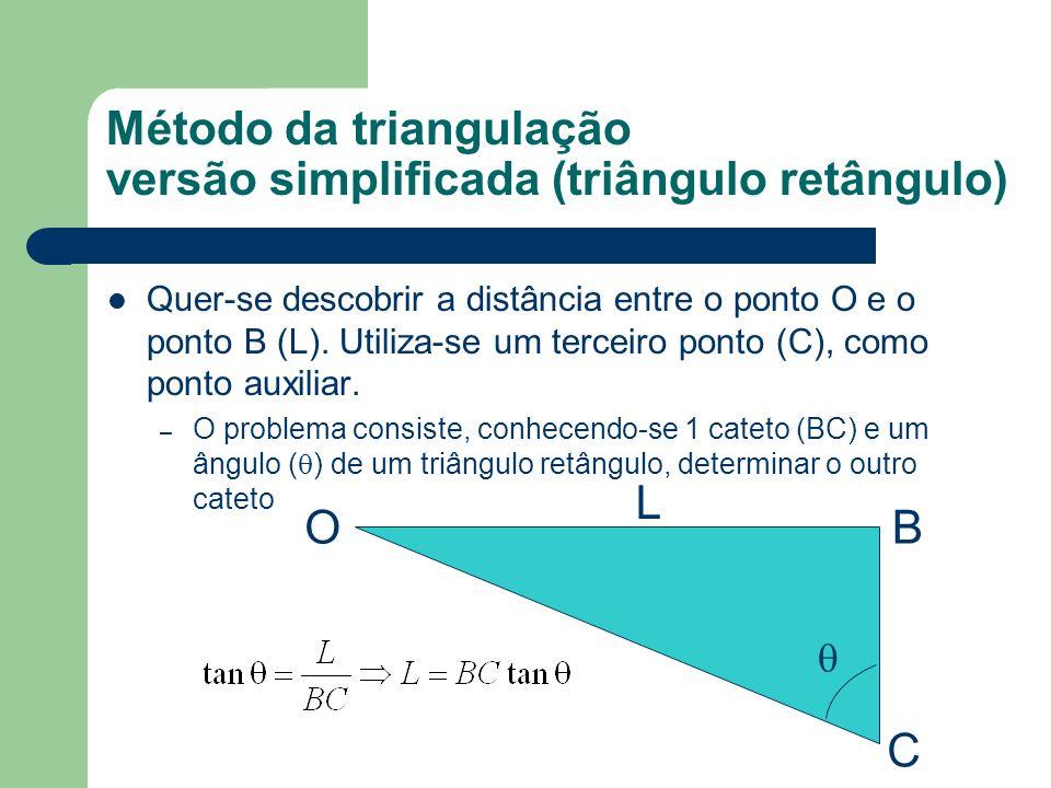 Alguns exemplos da utilização do método de triangulação L C B