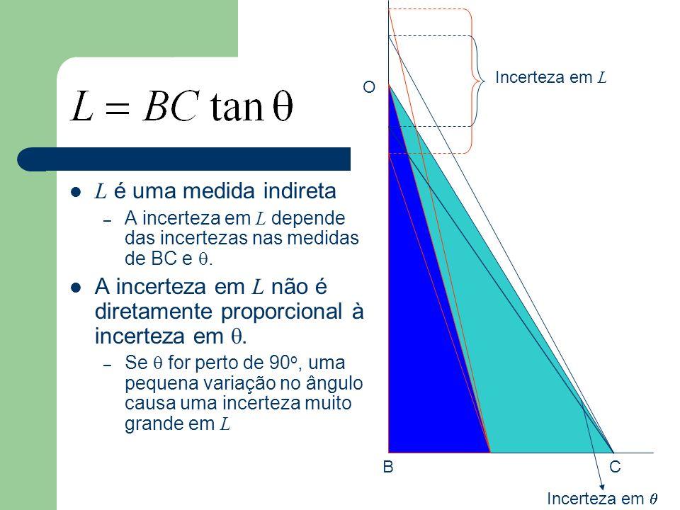 Objetivos da aula Questões Q1-26 à Q1-42 Medir o comprimento da mesa do laboratório utilizando o método de triangulação.