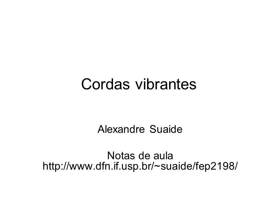 Cordas vibrantes Alexandre Suaide Notas de aula http://www.dfn.if.usp.br/~suaide/fep2198/