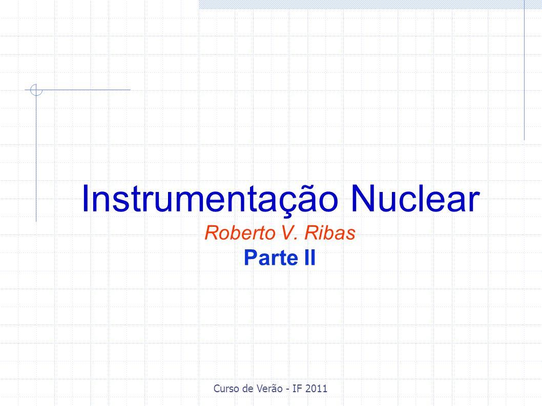 Curso de Verão - IF 2011 Pré-Amplificadores Detectores coletam uma quantidade de carga proporcional à energia da partícula.