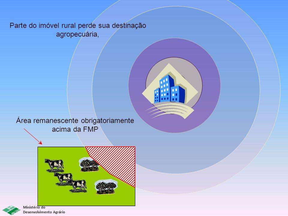 Parte do imóvel rural perde sua destinação agropecuária, Área remanescente obrigatoriamente acima da FMP