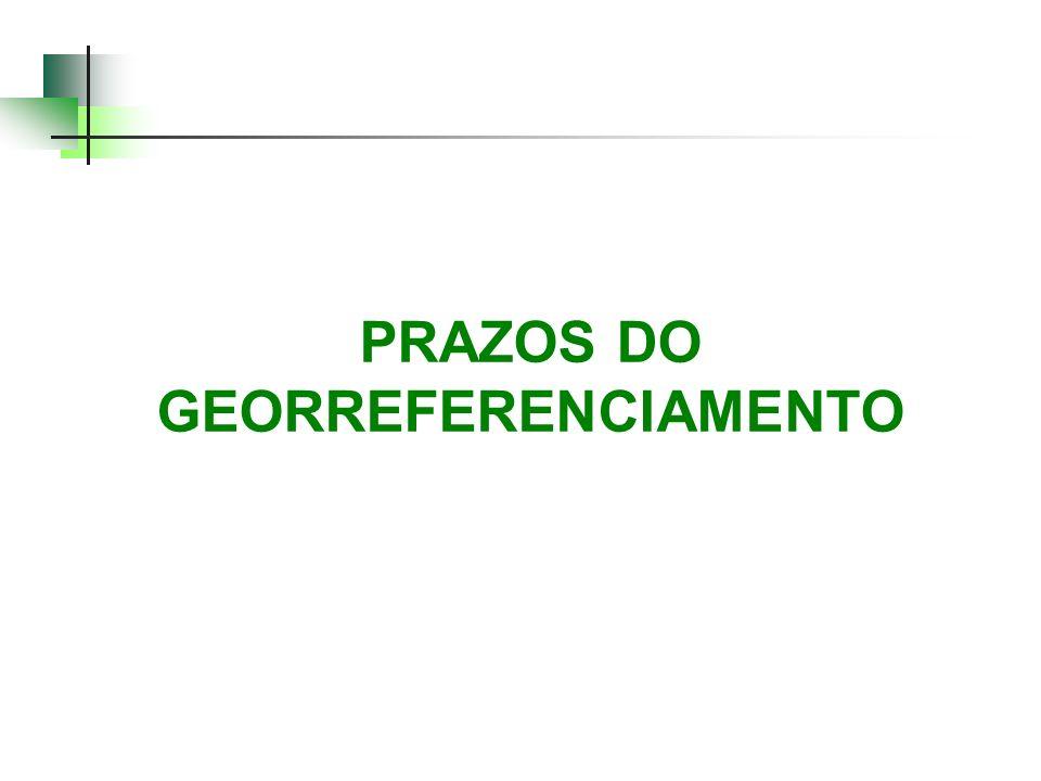 PRAZOS DO GEORREFERENCIAMENTO