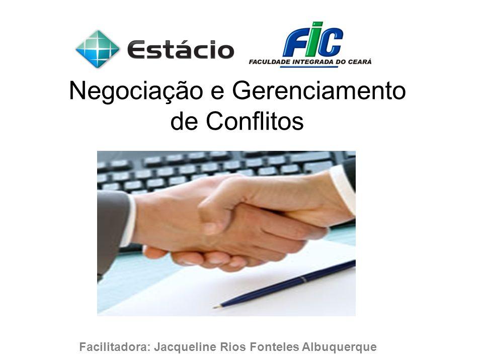 Negociação e Gerenciamento de Conflitos Facilitadora: Jacqueline Rios Fonteles Albuquerque Junho - 2008