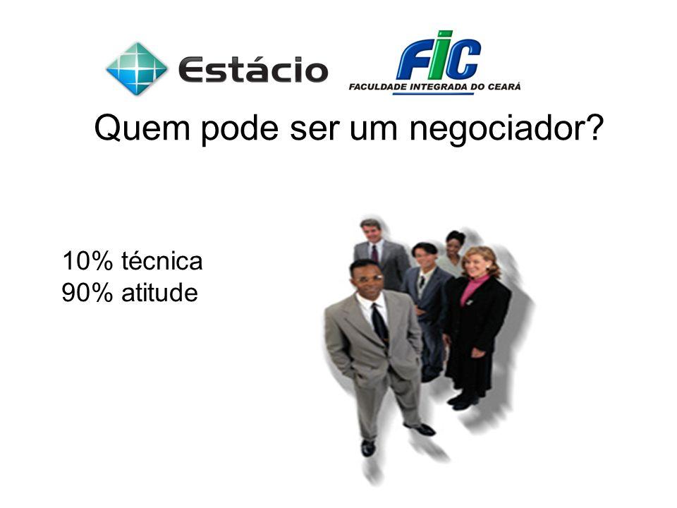 Quem pode ser um negociador? 10% técnica 90% atitude