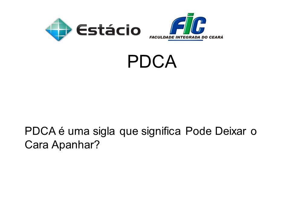 PDCA PDCA é uma sigla que significa Pode Deixar o Cara Apanhar?