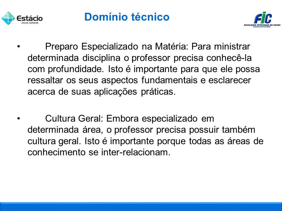 Preparo Especializado na Matéria: Para ministrar determinada disciplina o professor precisa conhecê-la com profundidade.