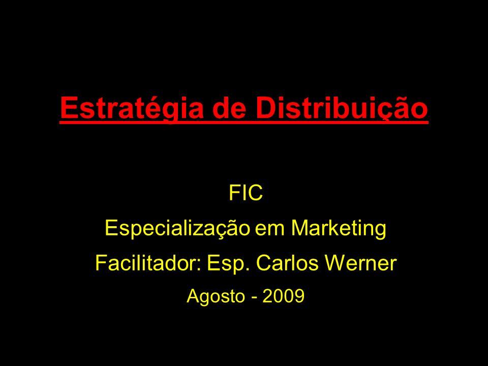 1 Estratégia de Distribuição FIC Especialização em Marketing Facilitador: Esp. Carlos Werner Agosto - 2009