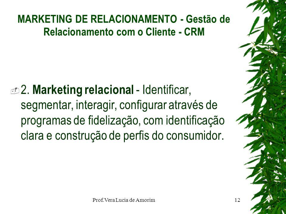 MARKETING DE RELACIONAMENTO - Gestão de Relacionamento com o Cliente - CRM 2. Marketing relacional - Identificar, segmentar, interagir, configurar atr