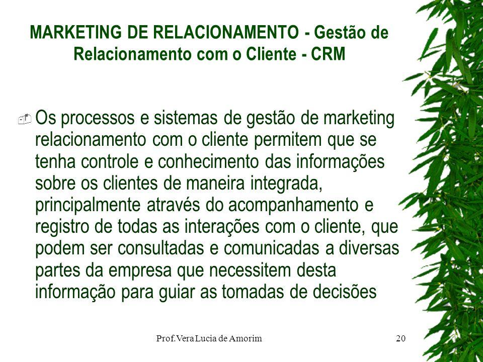 MARKETING DE RELACIONAMENTO - Gestão de Relacionamento com o Cliente - CRM Os processos e sistemas de gestão de marketing relacionamento com o cliente