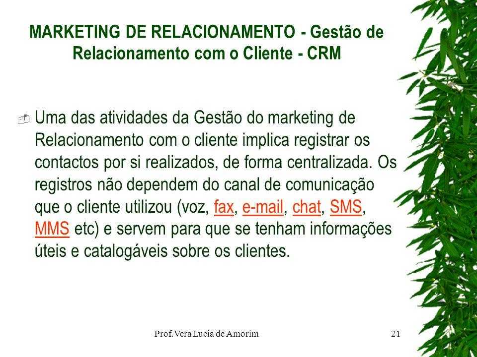 MARKETING DE RELACIONAMENTO - Gestão de Relacionamento com o Cliente - CRM Uma das atividades da Gestão do marketing de Relacionamento com o cliente i