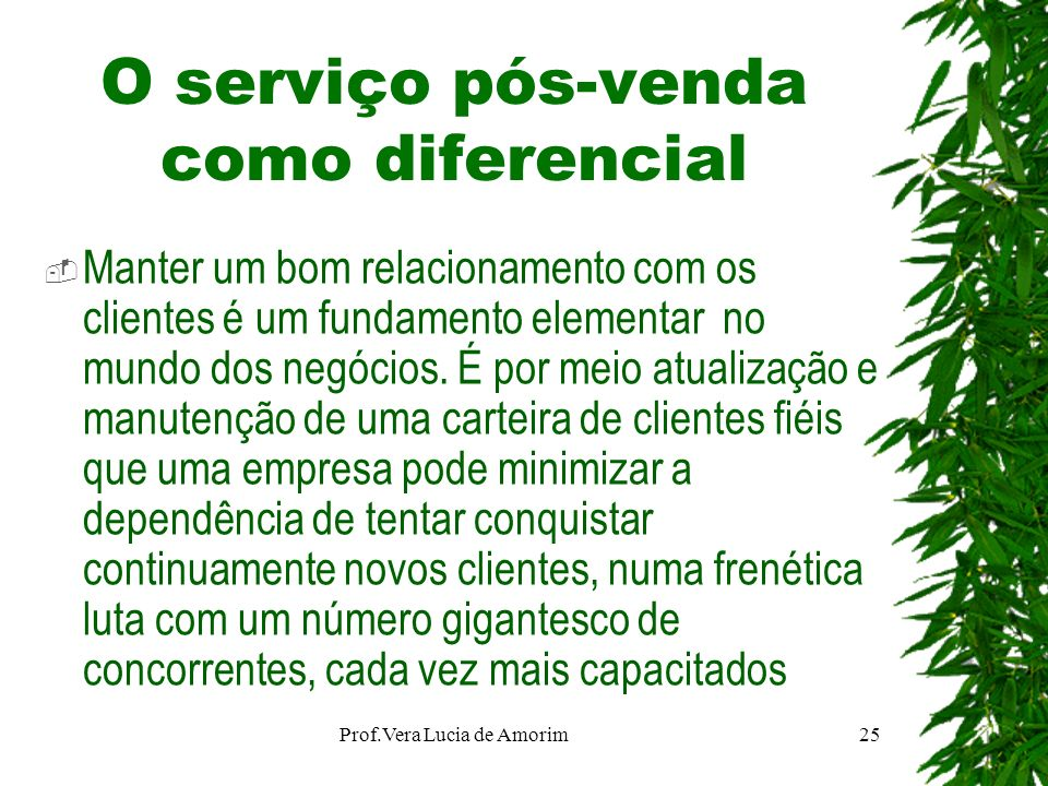 O serviço pós-venda como diferencial Manter um bom relacionamento com os clientes é um fundamento elementar no mundo dos negócios. É por meio atualiza