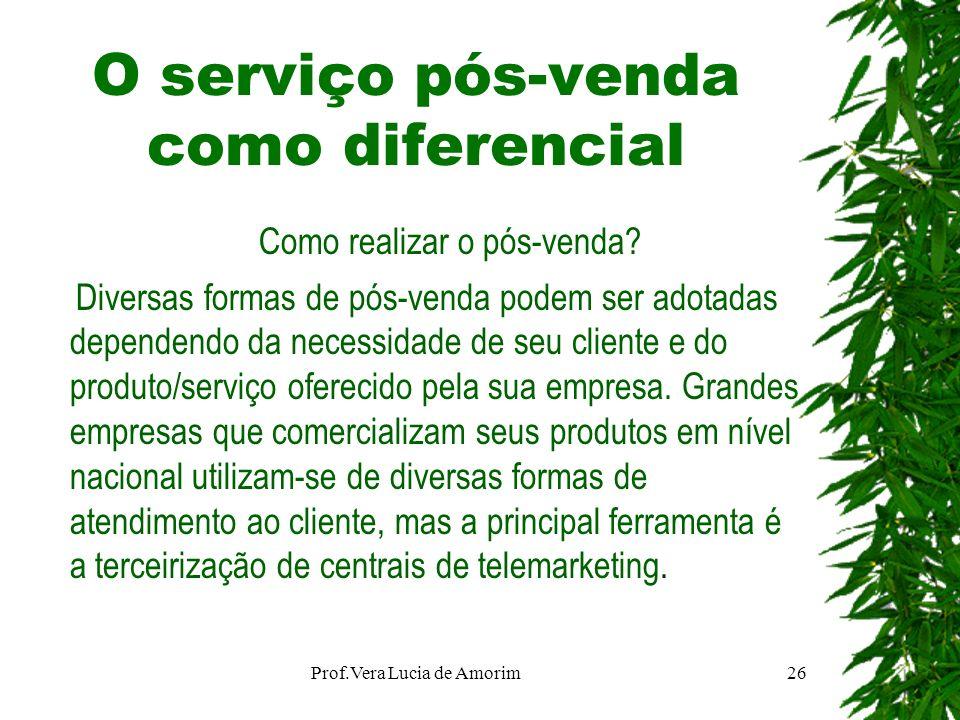 O serviço pós-venda como diferencial Como realizar o pós-venda? Diversas formas de pós-venda podem ser adotadas dependendo da necessidade de seu clien
