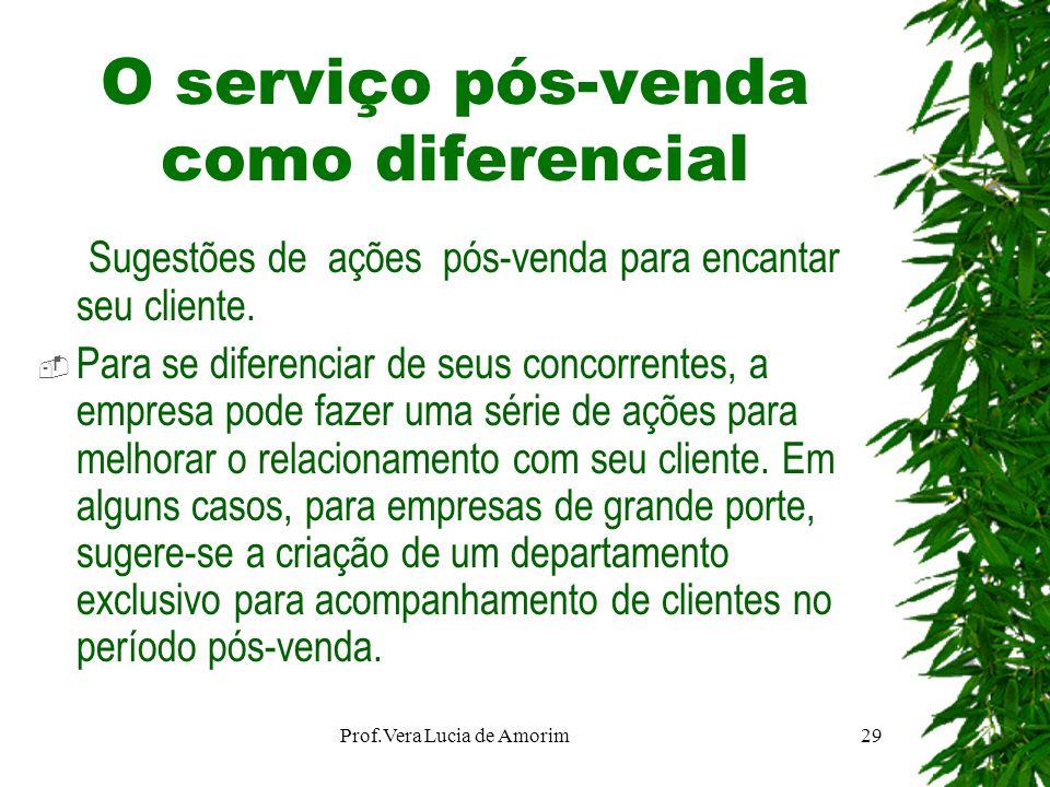O serviço pós-venda como diferencial Sugestões de ações pós-venda para encantar seu cliente. Para se diferenciar de seus concorrentes, a empresa pode