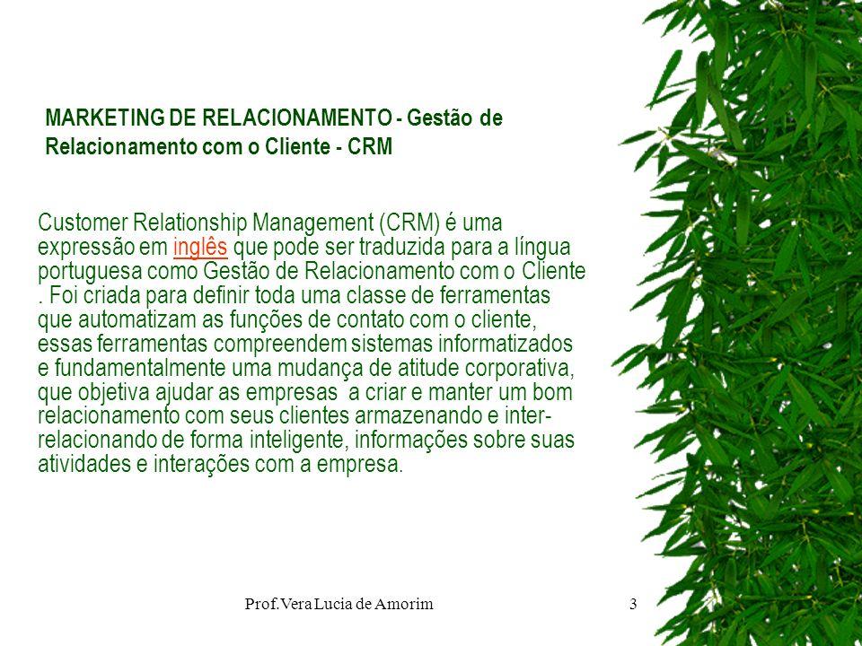 MARKETING DE RELACIONAMENTO - Gestão de Relacionamento com o Cliente - CRM Customer Relationship Management (CRM) é uma expressão em inglês que pode s