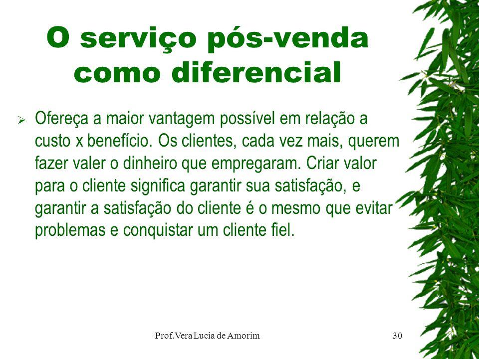 O serviço pós-venda como diferencial Ofereça a maior vantagem possível em relação a custo x benefício. Os clientes, cada vez mais, querem fazer valer