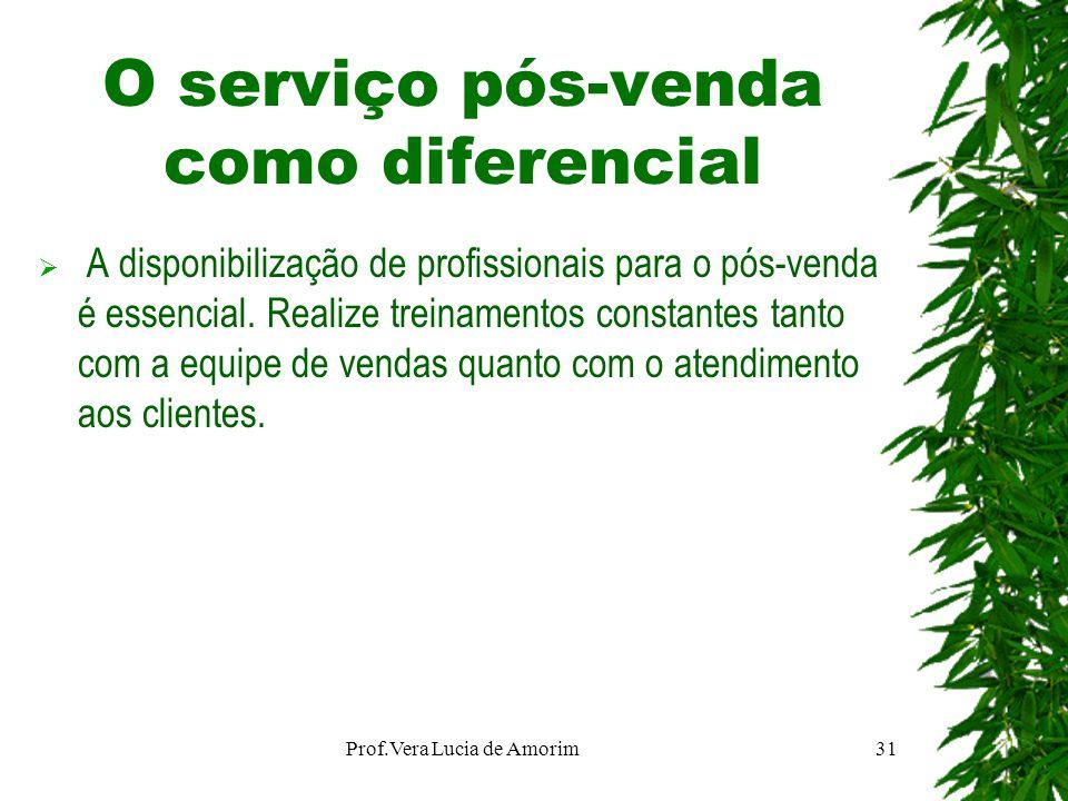 O serviço pós-venda como diferencial A disponibilização de profissionais para o pós-venda é essencial. Realize treinamentos constantes tanto com a equ