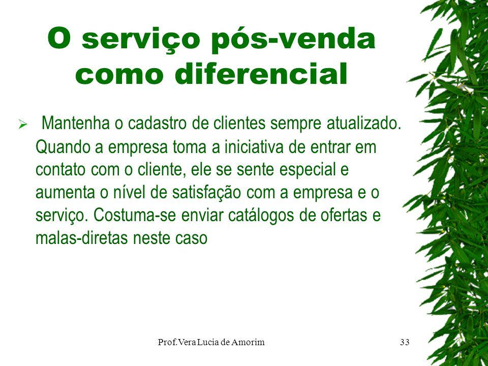 O serviço pós-venda como diferencial Mantenha o cadastro de clientes sempre atualizado. Quando a empresa toma a iniciativa de entrar em contato com o