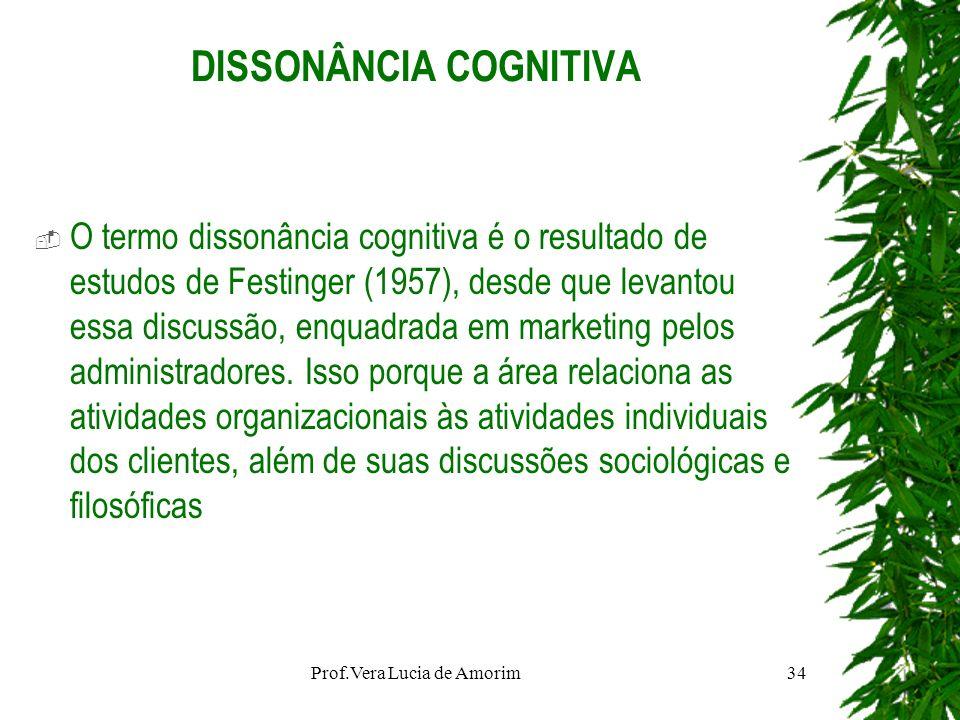 DISSONÂNCIA COGNITIVA O termo dissonância cognitiva é o resultado de estudos de Festinger (1957), desde que levantou essa discussão, enquadrada em mar