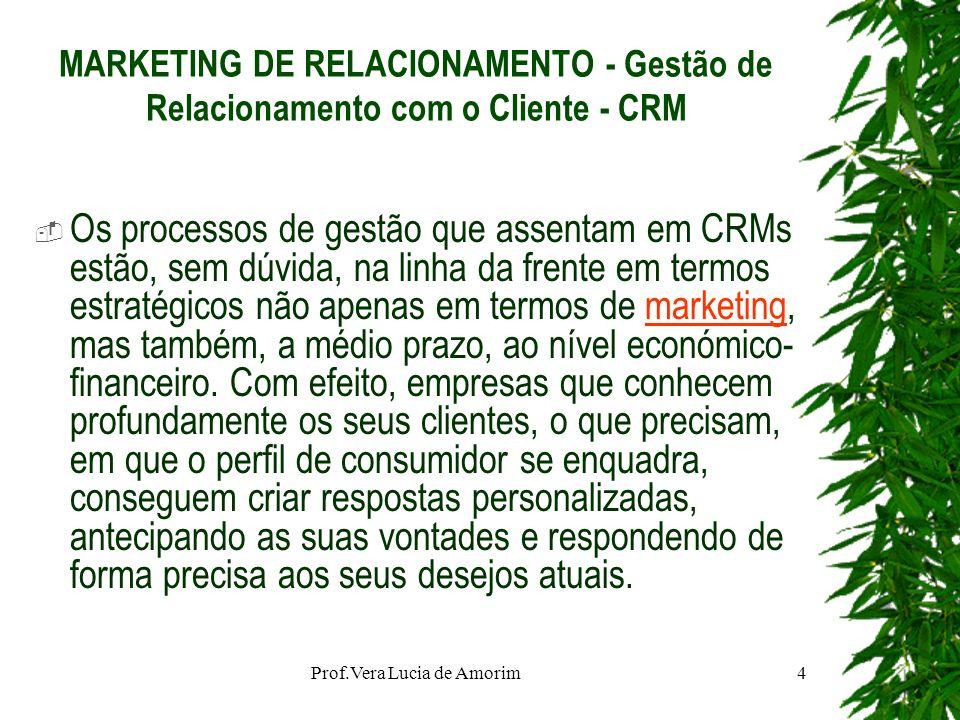 MARKETING DE RELACIONAMENTO - Gestão de Relacionamento com o Cliente - CRM Os processos de gestão que assentam em CRMs estão, sem dúvida, na linha da
