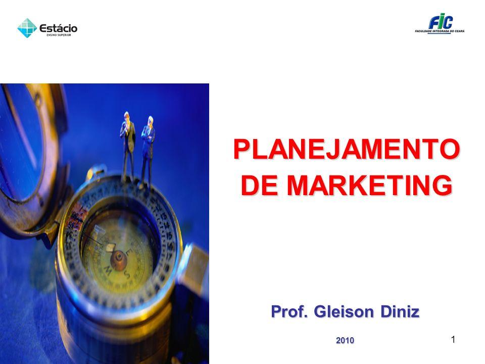 PLANEJAMENTO DE MARKETING Prof. Gleison Diniz 2010 1