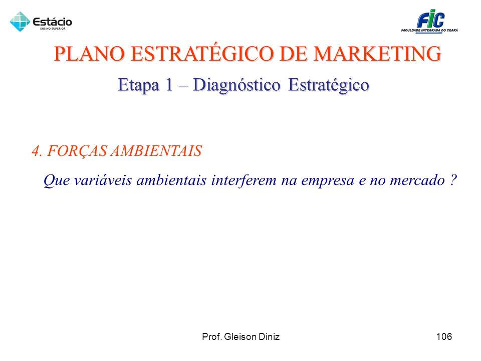 PLANO ESTRATÉGICO DE MARKETING Etapa 1 – Diagnóstico Estratégico 4. FORÇAS AMBIENTAIS Que variáveis ambientais interferem na empresa e no mercado ? 10