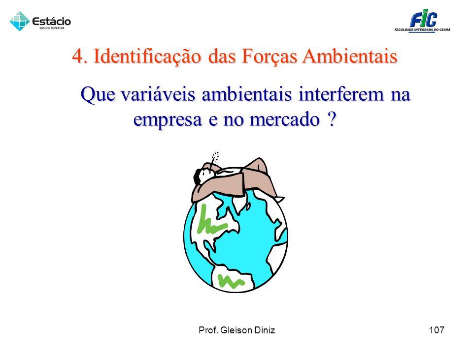 4. Identificação das Forças Ambientais Que variáveis ambientais interferem na empresa e no mercado ? Que variáveis ambientais interferem na empresa e