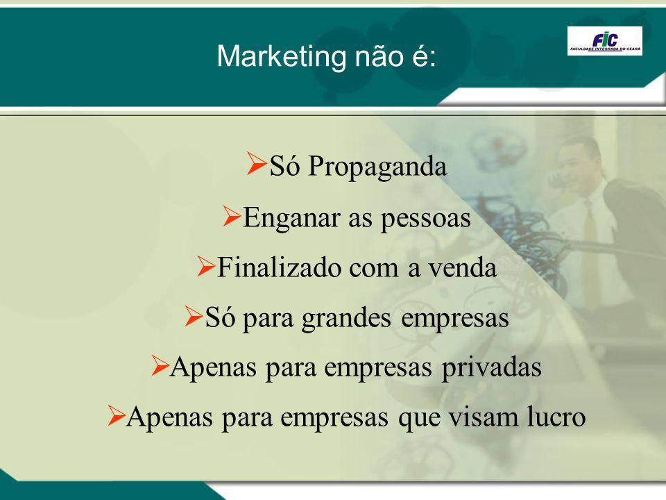 Só Propaganda Enganar as pessoas Finalizado com a venda Só para grandes empresas Apenas para empresas privadas Apenas para empresas que visam lucro Ma