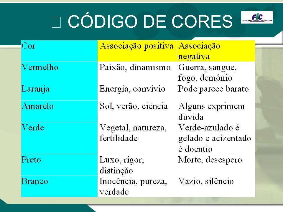 CÓDIGO DE CORES
