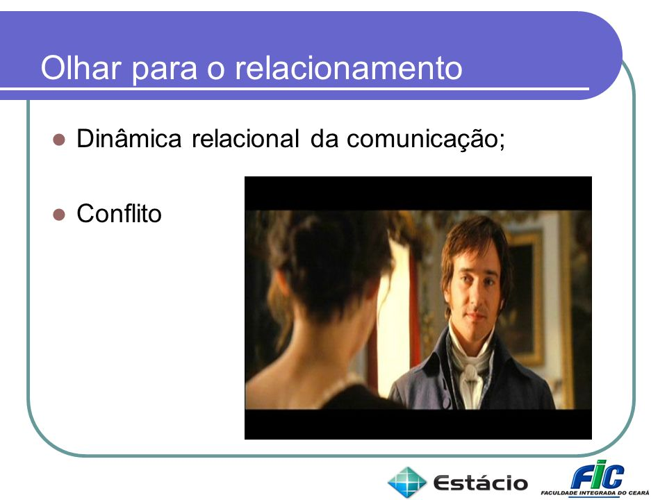Olhar para o relacionamento Dinâmica relacional da comunicação; Conflito