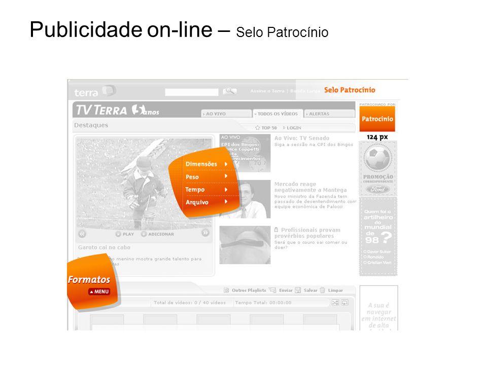 Publicidade on-line – Selo Patrocínio
