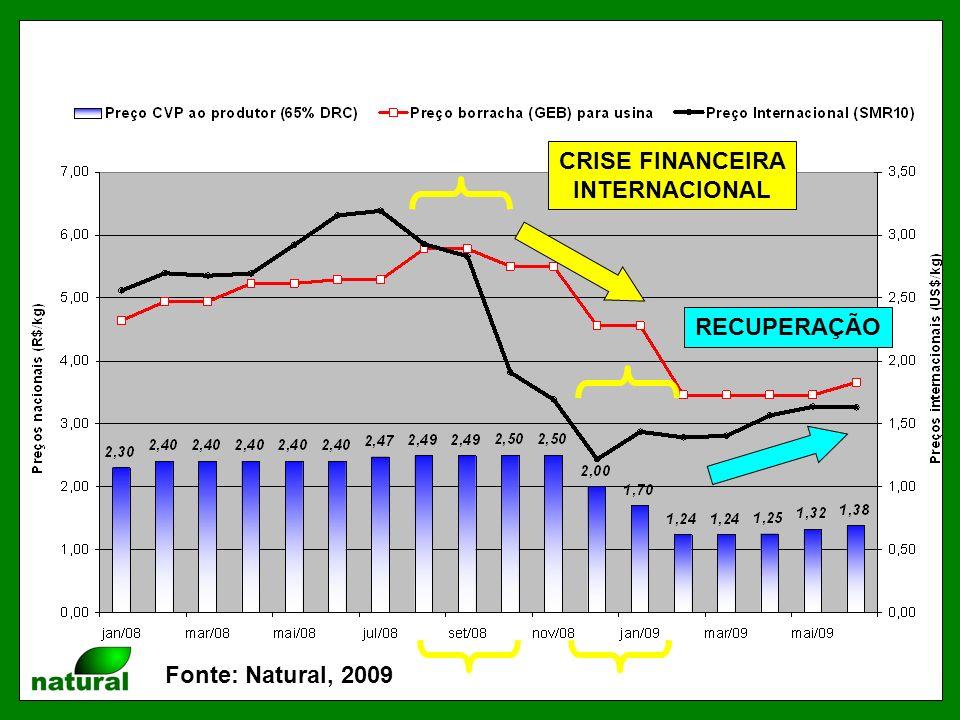 Fonte: Natural, 2009 CRISE FINANCEIRA INTERNACIONAL RECUPERAÇÃO