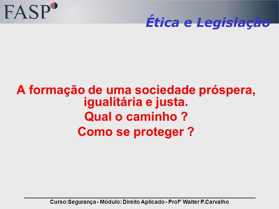 _____________________________________________________________________________ Curso:Segurança - Módulo: Direito Aplicado - Profº Walter P.Carvalho Conteúdo Estrutura do Direito: –Direito e Justiça; –Estado e sua formação; –Constituição; Fundamentos de Direito Civil e Penal: –Sujeitos de direito; –Atos Jurídicos, Obrigações e Contratos.