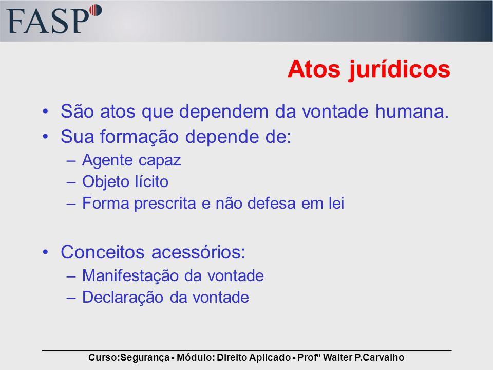 _____________________________________________________________________________ Curso:Segurança - Módulo: Direito Aplicado - Profº Walter P.Carvalho Ato