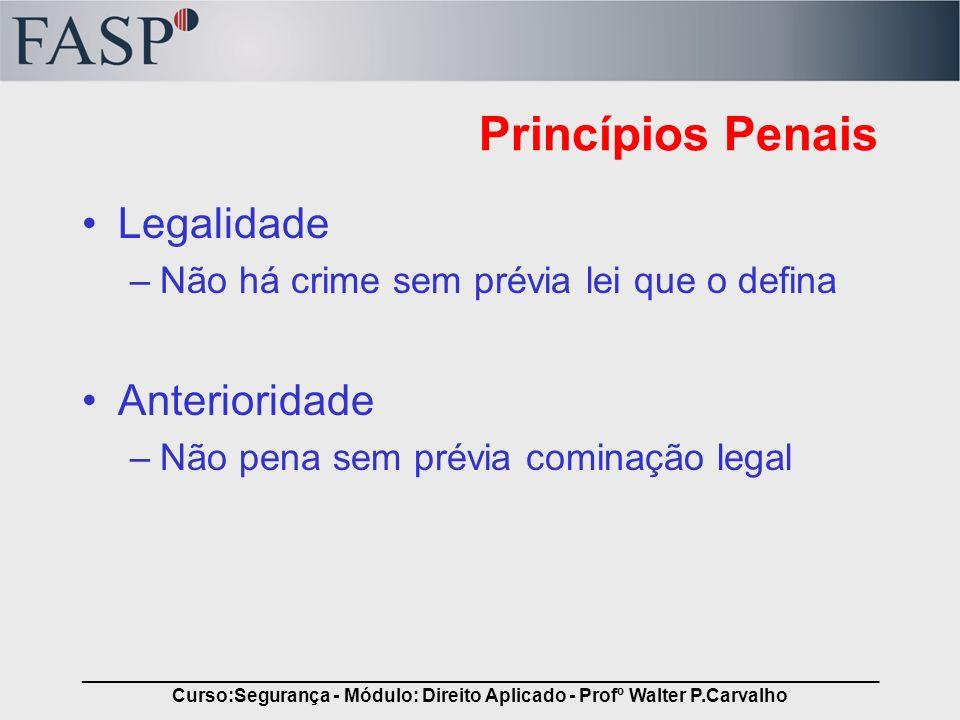 _____________________________________________________________________________ Curso:Segurança - Módulo: Direito Aplicado - Profº Walter P.Carvalho Pri