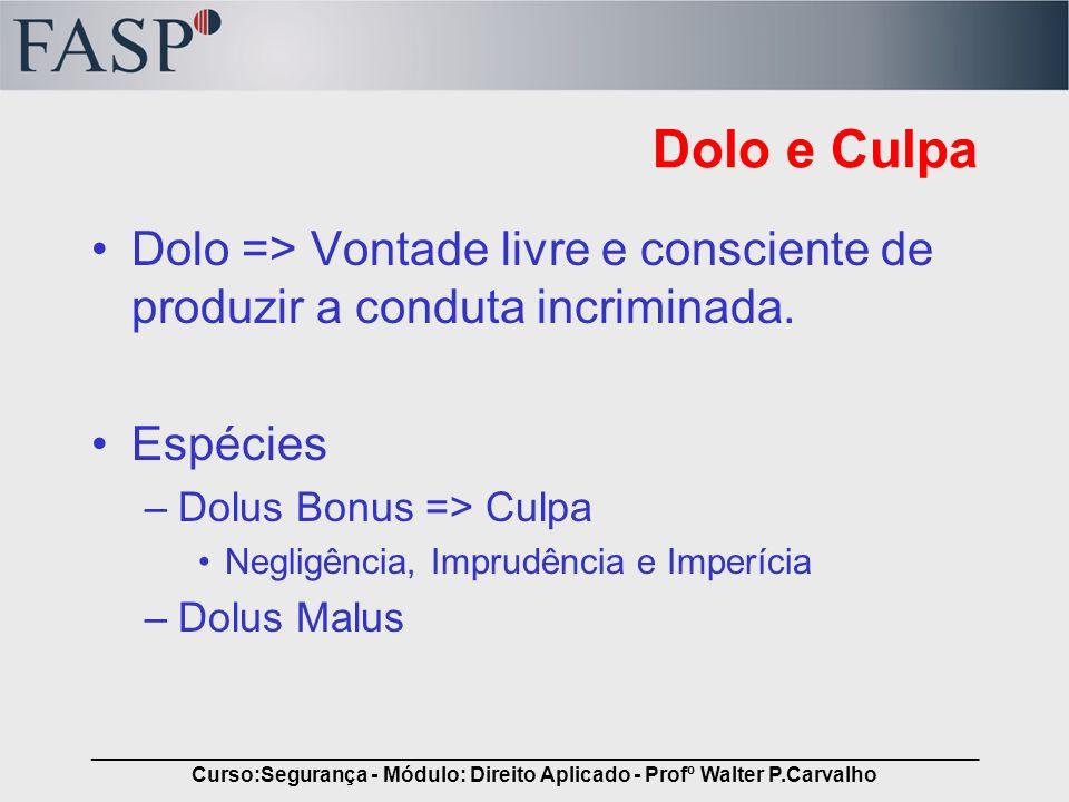 _____________________________________________________________________________ Curso:Segurança - Módulo: Direito Aplicado - Profº Walter P.Carvalho Dol