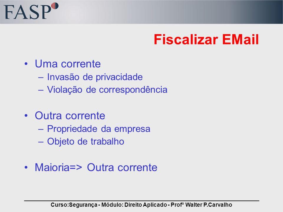 _____________________________________________________________________________ Curso:Segurança - Módulo: Direito Aplicado - Profº Walter P.Carvalho Fis