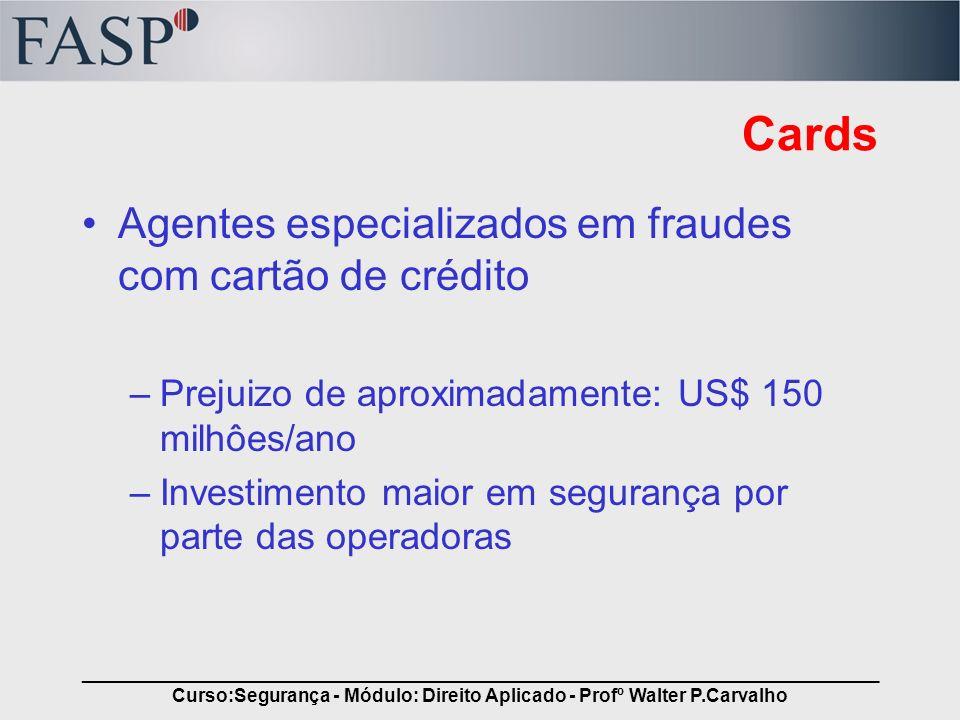 _____________________________________________________________________________ Curso:Segurança - Módulo: Direito Aplicado - Profº Walter P.Carvalho Car