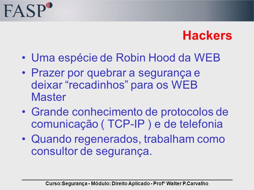 _____________________________________________________________________________ Curso:Segurança - Módulo: Direito Aplicado - Profº Walter P.Carvalho Hac