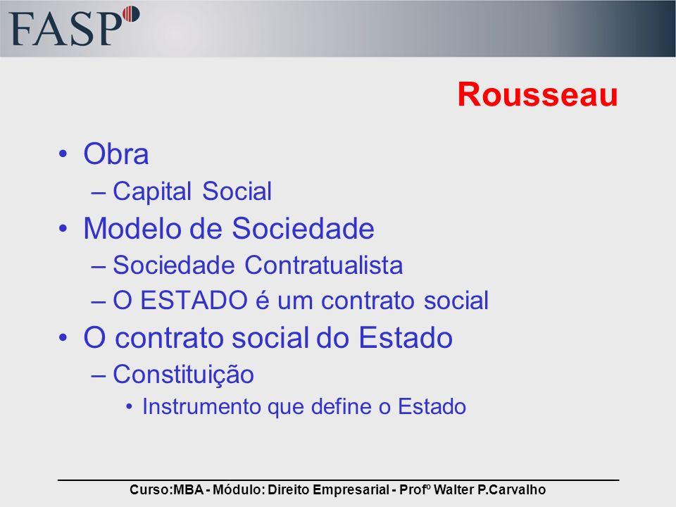 _____________________________________________________________________________ Curso:MBA - Módulo: Direito Empresarial - Profº Walter P.Carvalho Rousse
