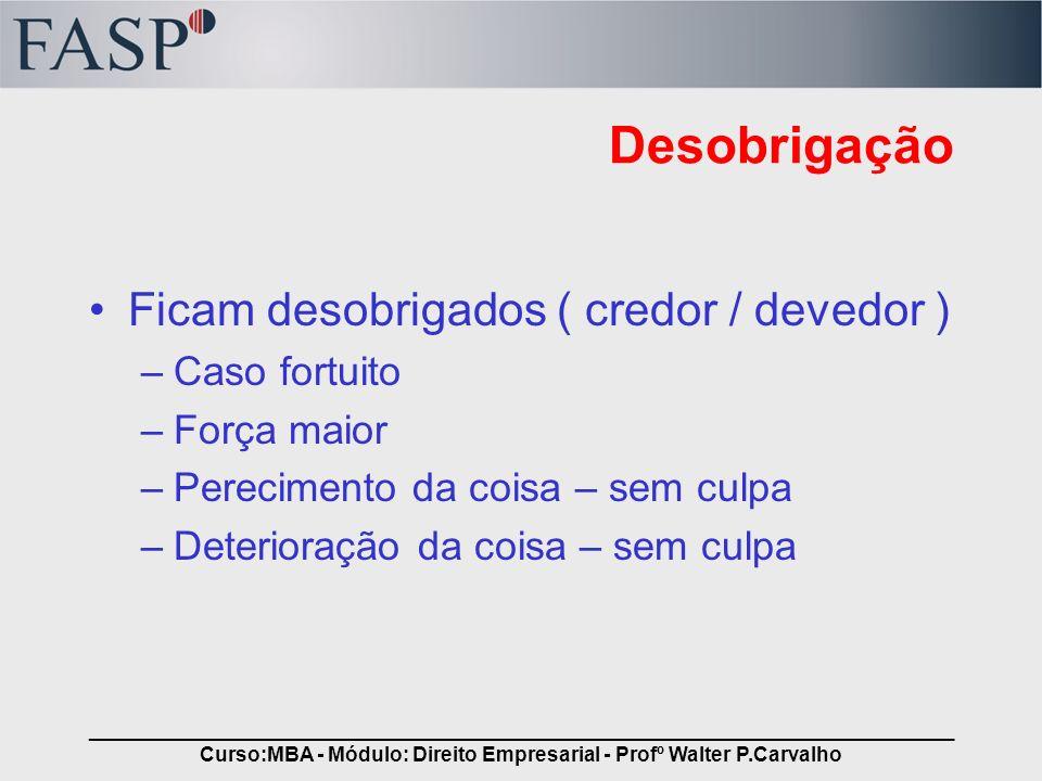 _____________________________________________________________________________ Curso:MBA - Módulo: Direito Empresarial - Profº Walter P.Carvalho Desobr