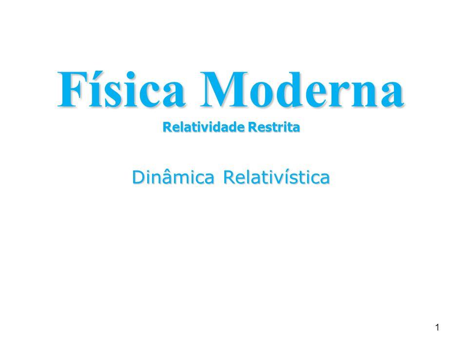 1 Física Moderna Relatividade Restrita Dinâmica Relativística