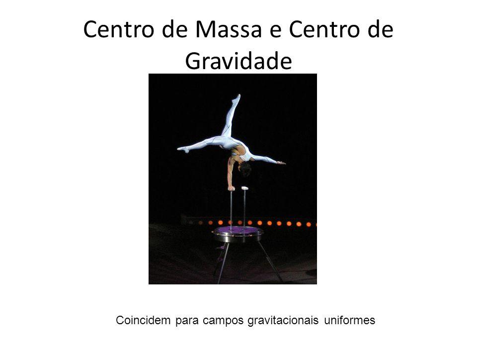 Centro de Massa e Centro de Gravidade Coincidem para campos gravitacionais uniformes