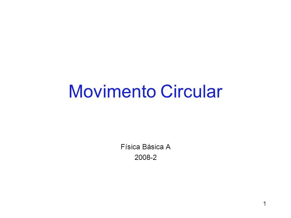 Movimento Circular Uniforme Características: Esse é um plano, no qual a partícula (corpo) percorre uma trajetória circular de raio R.