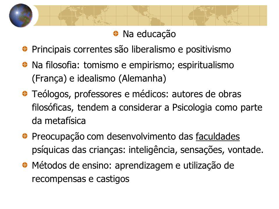 Escola de Aperfeiçoamento Pedagógico de Belo Horizonte 1928 Reforma do Ensino de MG – Francisco Campos Psicologia assume papel de destaque – Escola de Aperfeiçoamento deveria difundir a Pedagogia a ser implementada no estado Promoveu vários cursos: Simon (col.