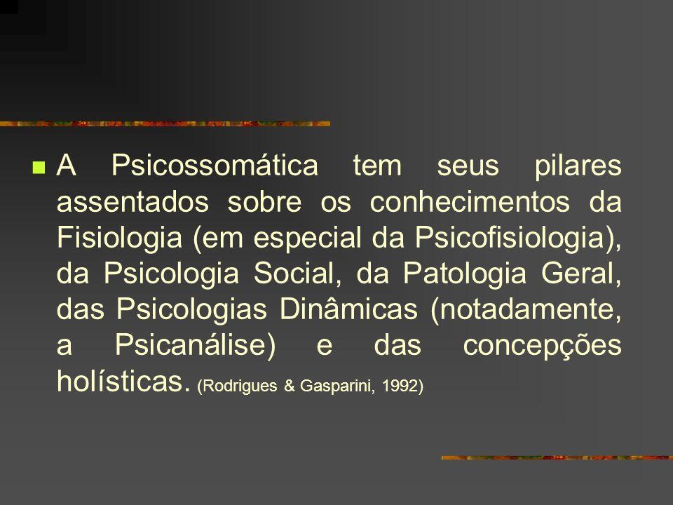 Psicossomática: estudo da pessoa como ser histórico, que é um sistema único constituído por três subsistemas: corpo, mente e social.