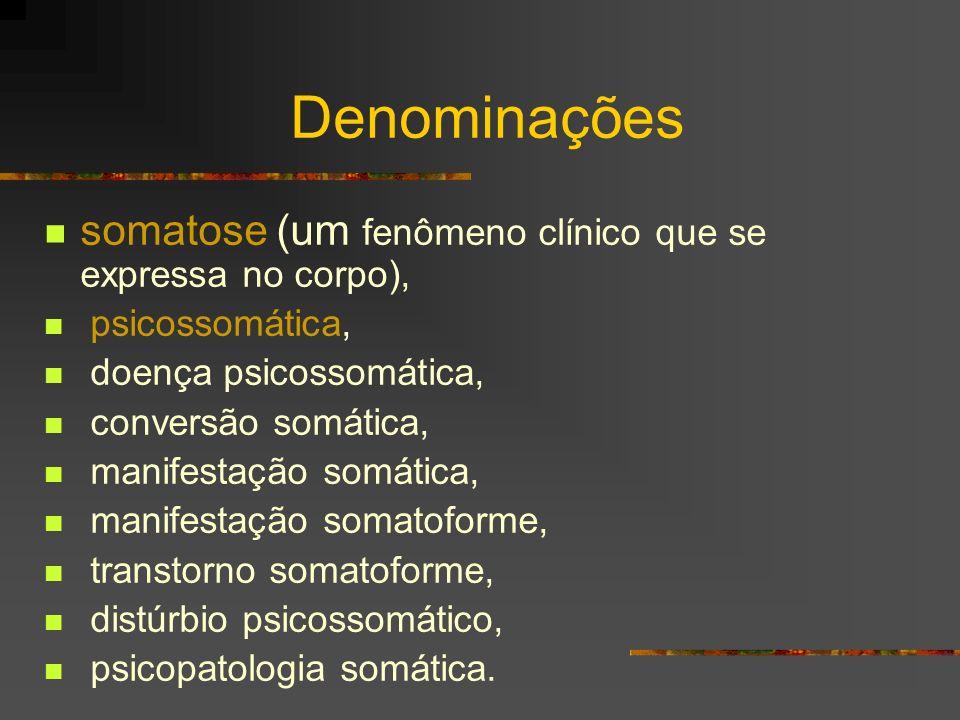 Guyton (1992): a dor como algo que invade o soma para proteger o indivíduo Joyce McDougall (1991): no corpo da paciente estava se encenando toda uma história de vida que havia se distanciado da fala Uma grande dor surge sempre de um transtorno do eu (fibromialgia, erisipela, etc)