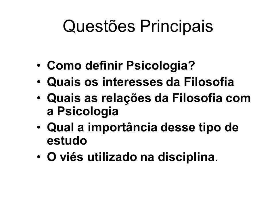 Como definir Psicologia.