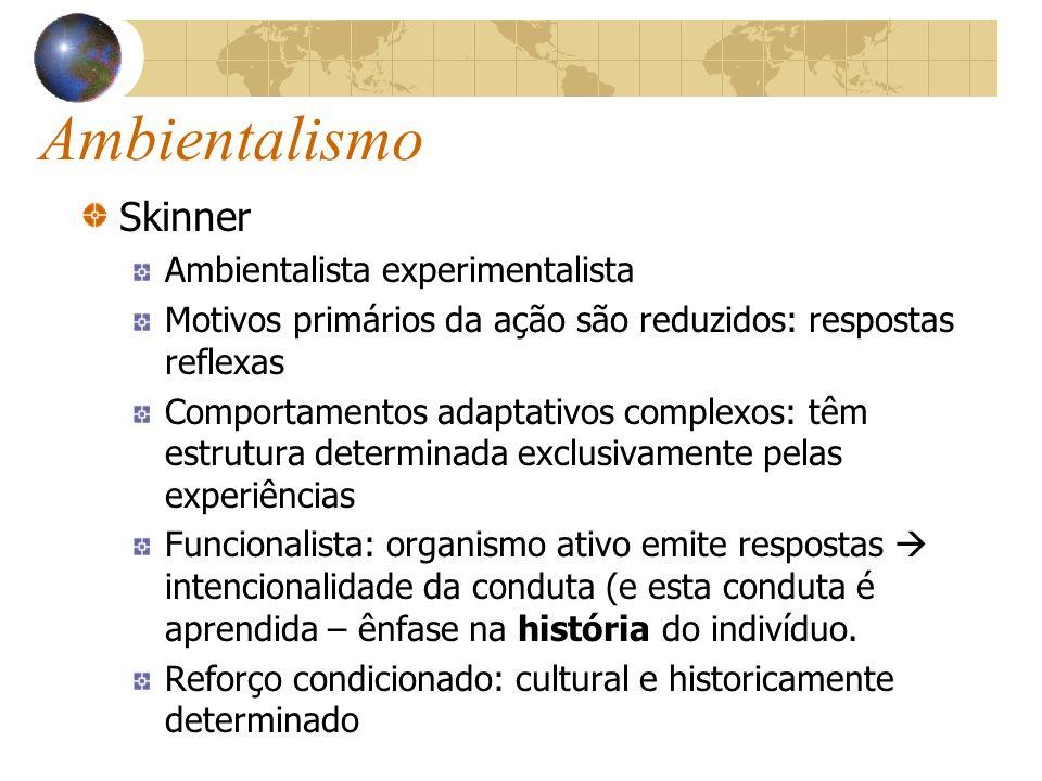 Nativismo Müller Psicofisiologia: Qualificação da sensação ao acionamento interno ou externo das energias específicas dos nervos.